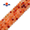 natural carnelian faceted round beads