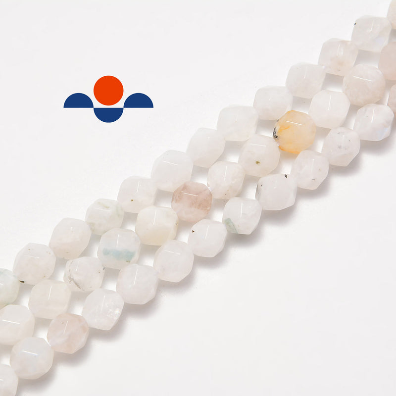natural moonstone faceted star cut beads
