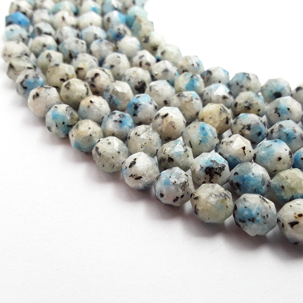k jasper faceted diamond cut shape beads