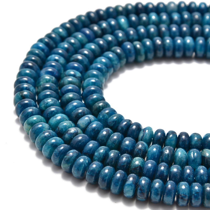 natural apatite smooth rondelle beads