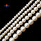 "Fresh Water Pearl White Off Round Potato Beads 5mm 6mm 8mm 10mm 15.5"" Strand"