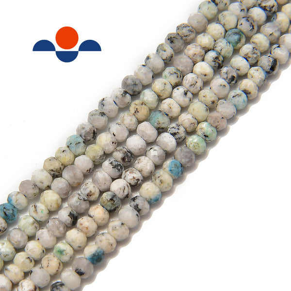 natural k faceted rondelle beads