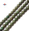 "Dark Green Chrysoprase Faceted Round Beads 10mm 15.5"" Strand"