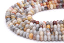 natural crazy agate smooth rondelle beads