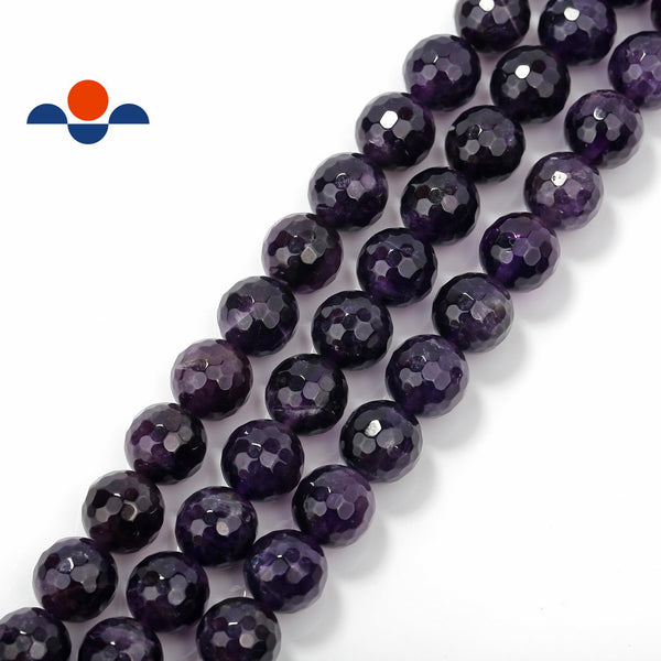 natural amethyst faceted round beads