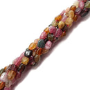multi color tourmaline nugget beads