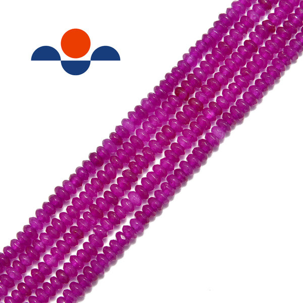 purple dyed jade faceted rondelle beads