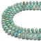 Natural Amazonite Faceted Irregular Rondelle Beads Size 5x8 mm 15.5'' Strand