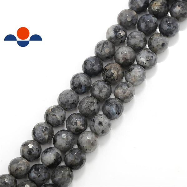 larvikite labradorite faceted round beads