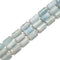 Aquamarine Faceted Cylinder Beads Size 10x16mm 15.5'' Strand