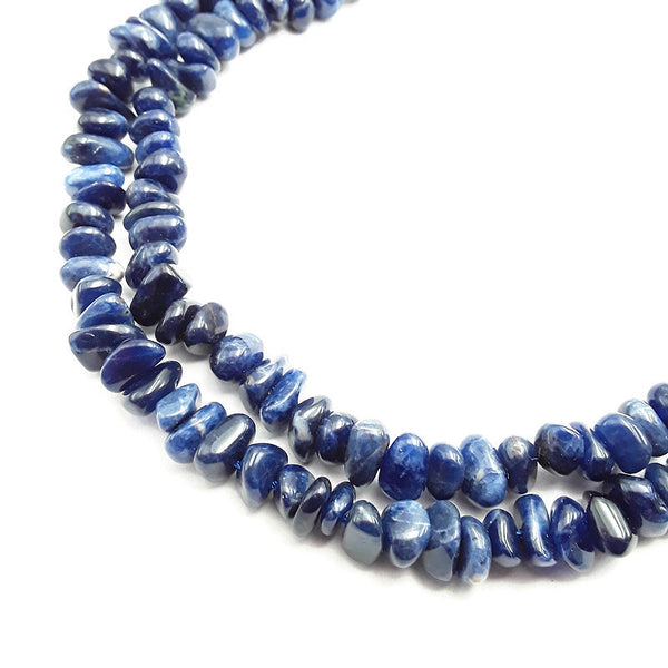 sodalite smooth irregular pebble nugget chips beads