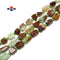 "Chrysoprase Irregular Pebble Nugget Side Drill Beads Approx 10x14mm 15.5""Strand"