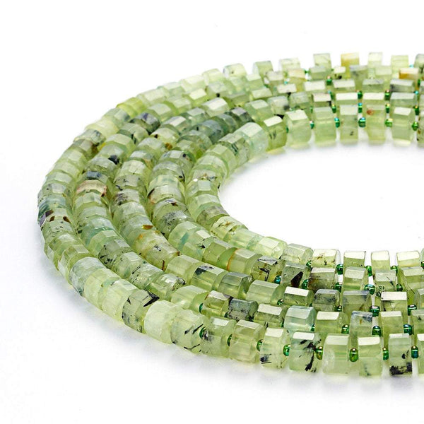 prehnite faceted rondelle wheel Discs beads