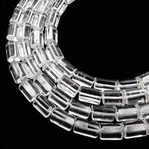 clear quartz smooth cylinder beads