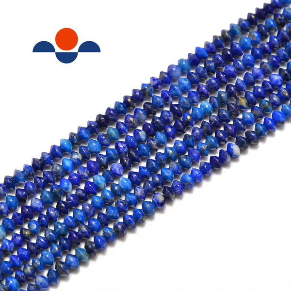 natural lapi lazuli faceted rondelle Discs beads