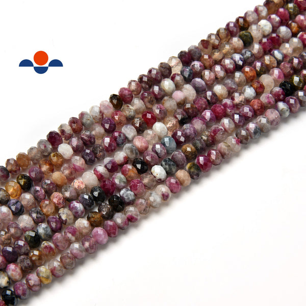 chinese tourmaline faceted rondelle beads