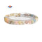 Natural Multi Morganite Smooth Round Elastic Bracelet Size 6mm 7.5'' Length