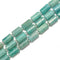 Green Amazonite Faceted Cylinder Beads Size 10x16mm 15.5'' Strand