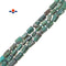 "Natural Chrysocolla Matte Faceted Cylinder Tube Beads 7x12mm 15.5"" Strand"