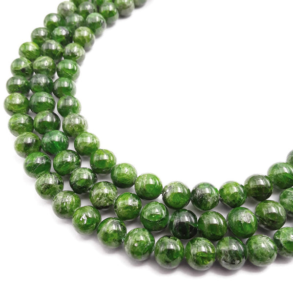 natural diopside smooth round beads