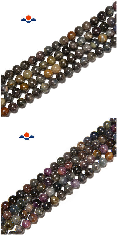 Natural Ruby and Sapphire Smooth Round Beads Size 5mm 6mm 8mm 15.5'' Strand