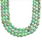 chrysaprase faceted oval beads