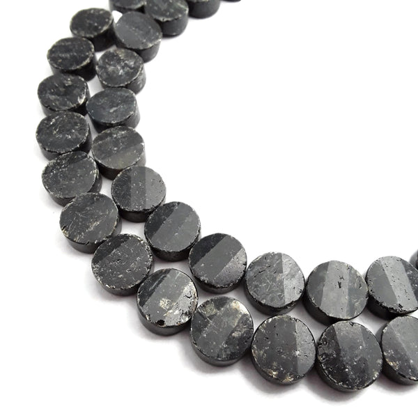 arfvedsonite faceted shape beads