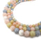 morganite dyed jade smooth round beads