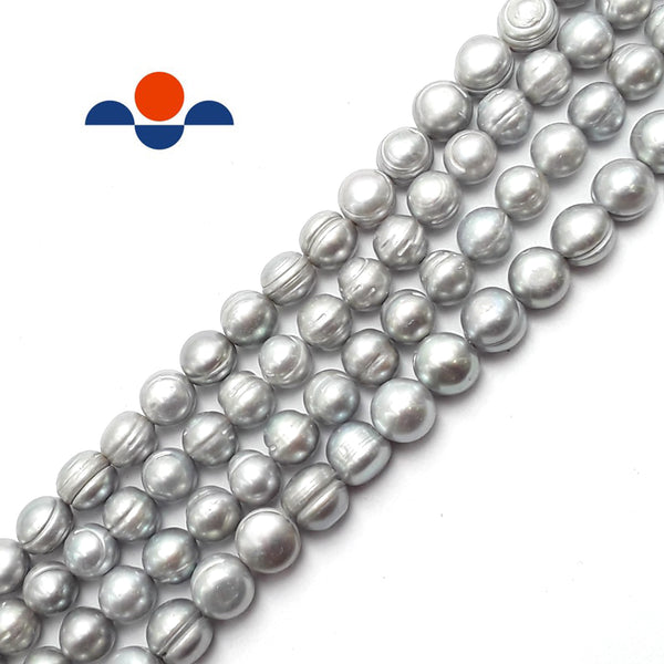 gray fresh water pearl potato beads