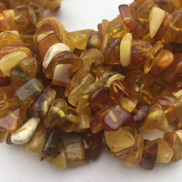 amber irregular pebble nugget Chips beads