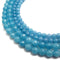 blue sponge quartz faceted round beads