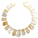 citrine graduated faceted trapezoid shape beads