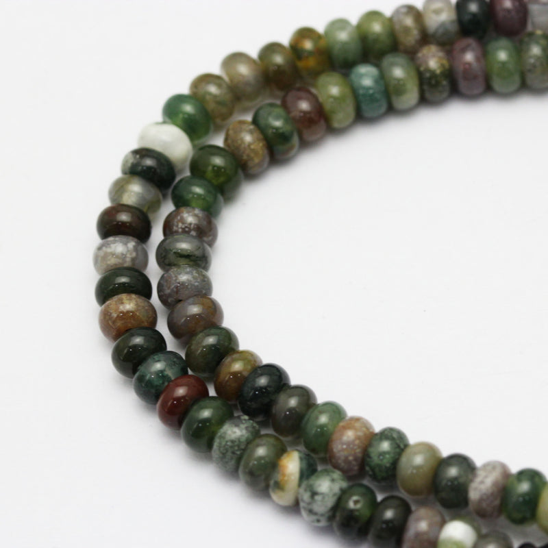 large hole indian agate smooth rondelle beads
