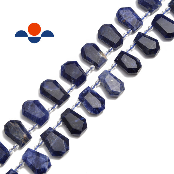 sodalite faceted trapezoid shape beads