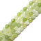 natural green jade faceted star cut loose beads