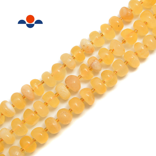 "Yellow Honey Calcite Pebble Nugget Beads Size Approx 5x10mm 15.5"" Strand"