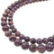 "2.0mm Hole Dark Purple Sea Sediment Jasper Smooth Round Beads 8mm 10mm 15.5"" Std"
