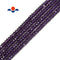 purple k crystal glass faceted rondelle beads