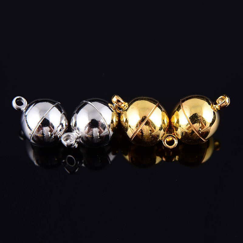 silver gold plated strong magnetic clasps round