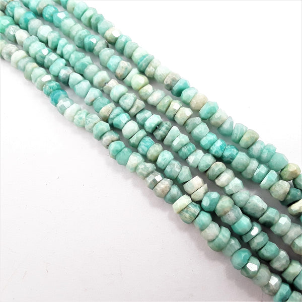 amazonite faceted irregular rondelle beads