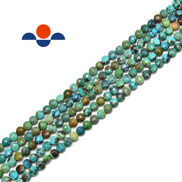 natural turquoise faceted beads