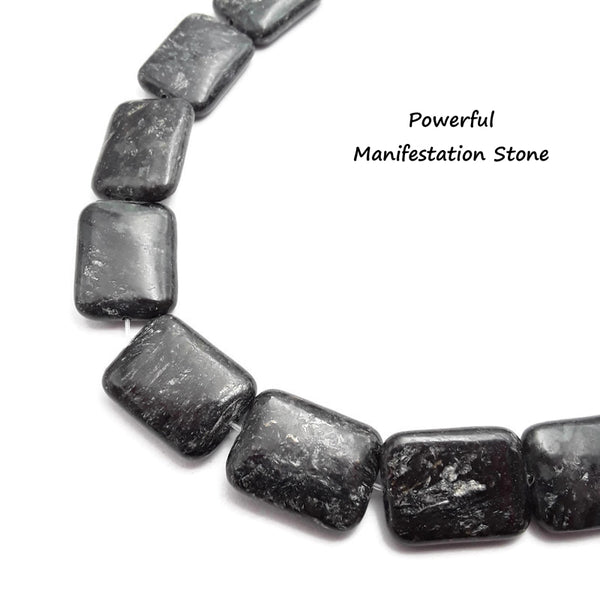 arfvedsonite smooth rectangle shape beads
