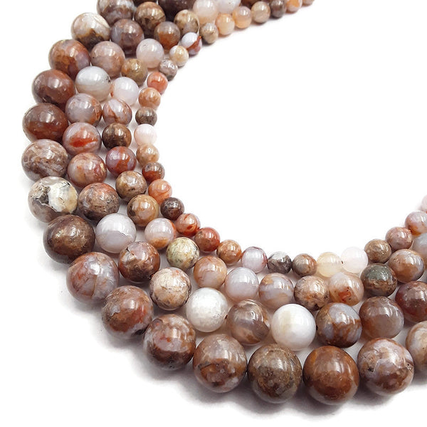 natural red agate smooth round beads