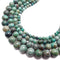 natural green chrysocolla smooth round beads