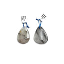 black tourmalinated quartz pendant teardrop or irregular shape