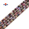 "Ruby & Sapphire Mixed Faceted Rondelle Beads Size 4x6mm 15.5"" Strand"