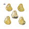 Natural Yellow Turquoise Twisted Leaf Shape Pendant Size 45x60mm Sold Per Piece