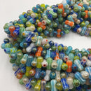 glass handmade lampwork dumbbell beads