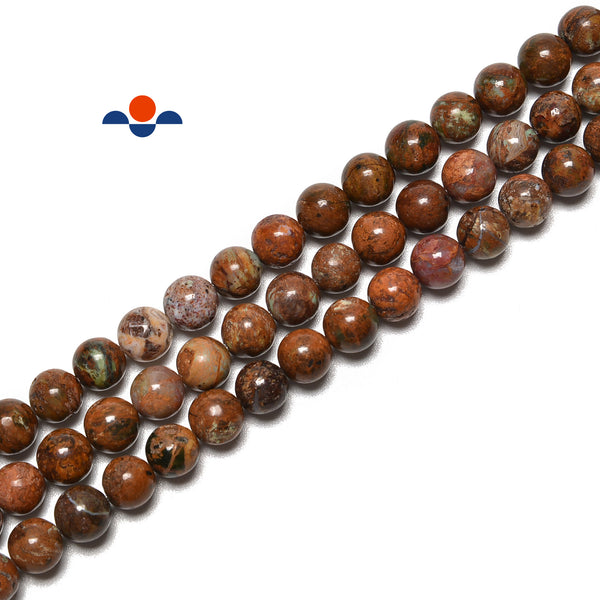 Natural African Coffee Brown Opal Smooth Round Beads Size 6mm 8mm 15.5'' Strand