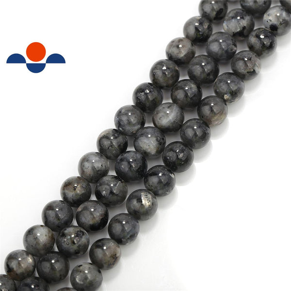 larvikite labradorite smooth round beads